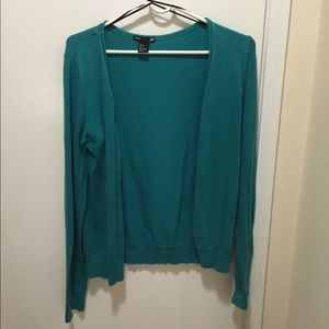 H&M green cardigan in size S